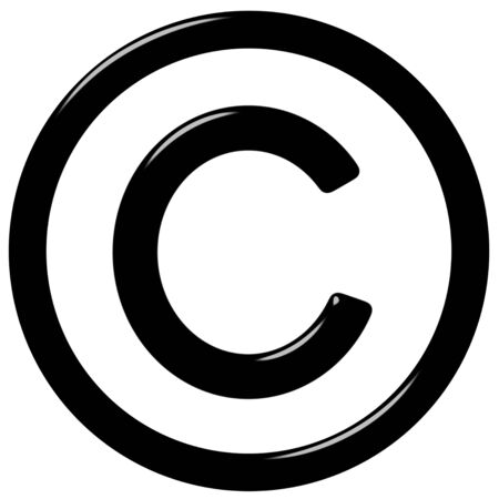 copyright symbol: 3d copyright symbol  Stock Photo