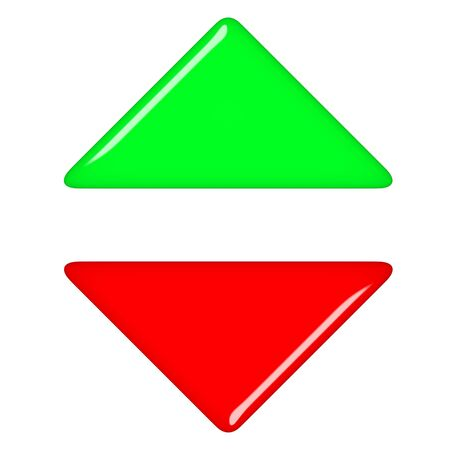 3d up and down arrows  photo
