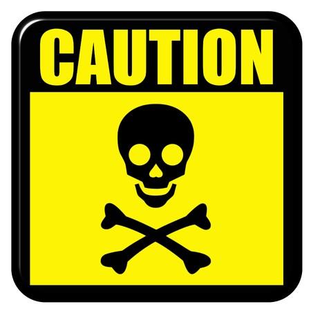 Caution death sign Stock Photo - 7262242