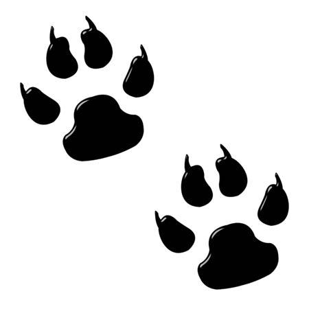 paw prints: 3d dog foot prints  Stock Photo