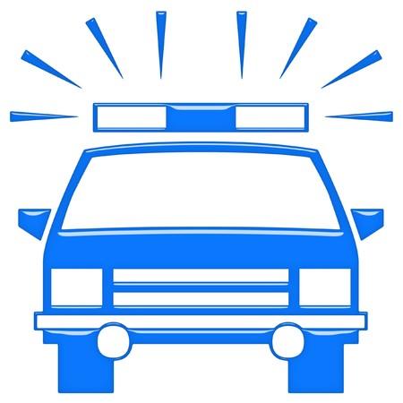 siren: 3d police car