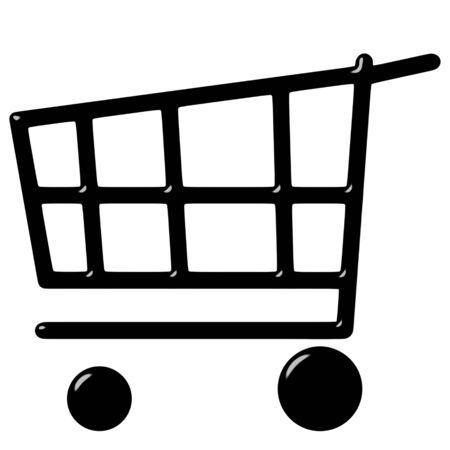 icon shopping cart: 3D Warenkorb