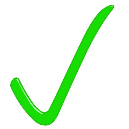 3d tick sign  photo