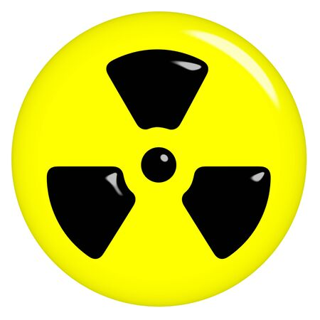 3d radioactive symbol  photo