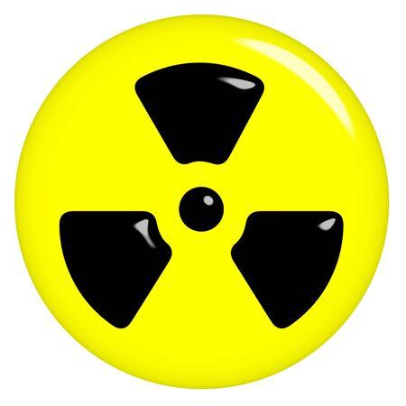 radioattivo: simbolo radioattivo 3D
