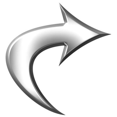 3D Silber kreisf�rmige Pfeil