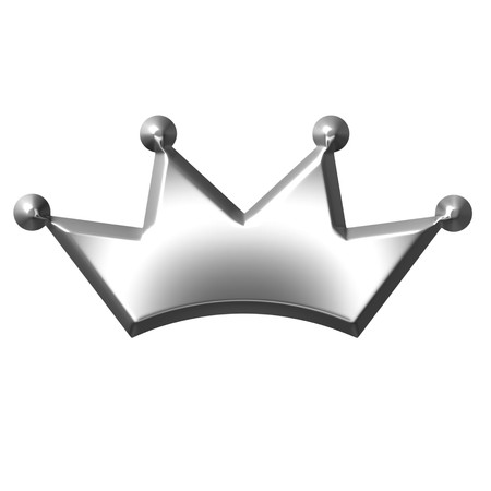 royalty: 3d silver crown