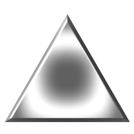 triangle objects: 3d silver triangle  Stock Photo