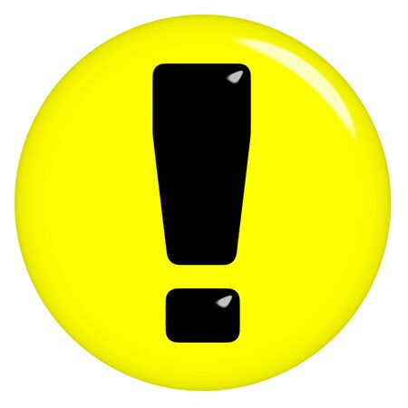 3d warning sign  photo