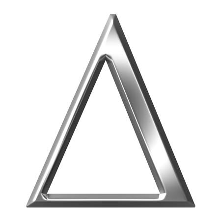 3d silver Greek letter Delta  Stock Photo