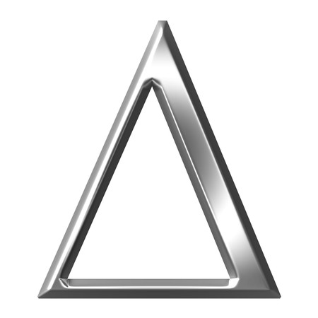 greek alphabet: 3d silver Greek letter Delta  Stock Photo