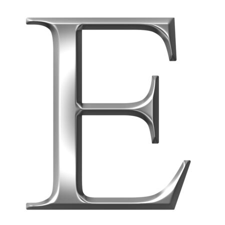 3d silver Greek letter Epsilon