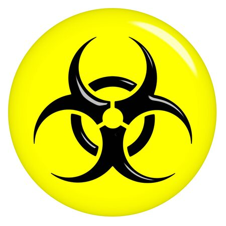 atomic symbol: 3d biohazard sign