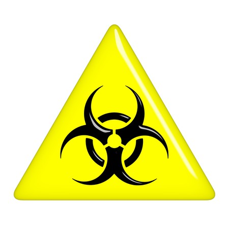 hazardous waste: 3d biohazard sign
