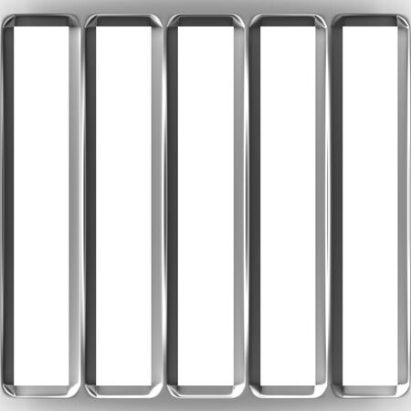 vertical bar: 3d cage bars  Stock Photo