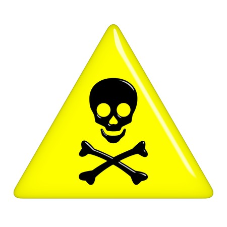 hazard sign: 3d death sign  Stock Photo