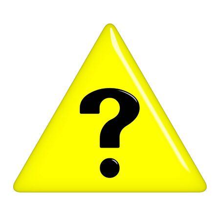 riddles: 3d question sign