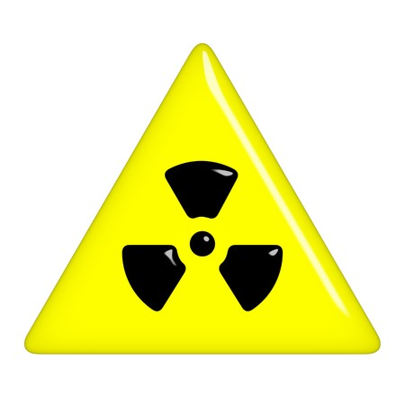 infectious waste: 3d radioactive symbol