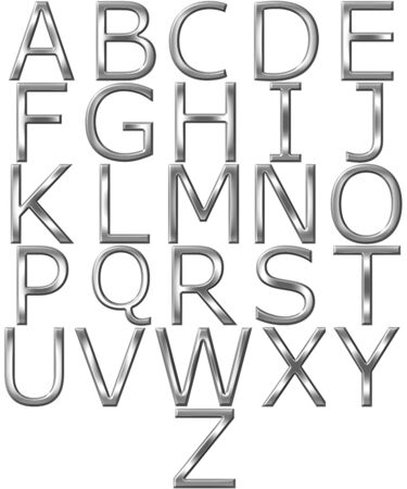 3d silver alphabet  Stock Photo - 7352805