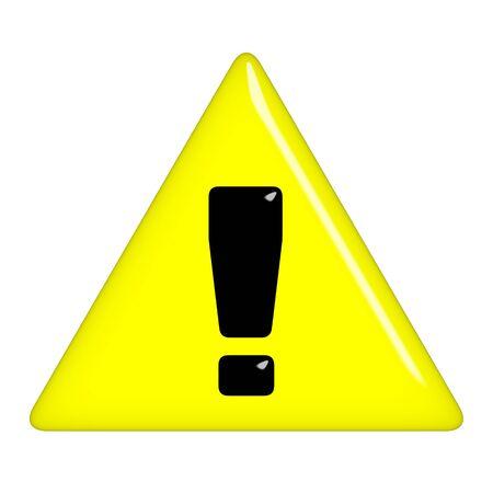 3d warning sign  Stock Photo - 7352787
