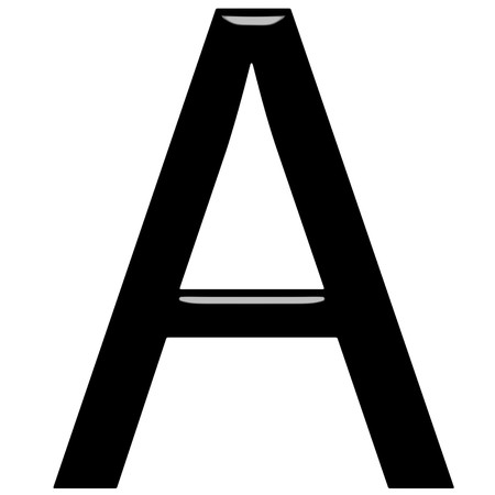 first grade: 3d letter A isolated in white