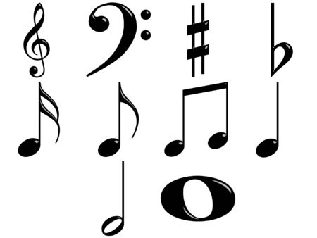 3d music notes Stock Photo - 7403978