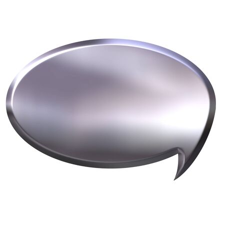 3d silver speech bubble  photo