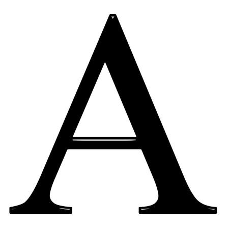 3D letra griega alfa aislado en blanco