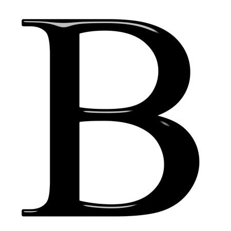 beta: lettera greca 3D beta isolato in bianco  Archivio Fotografico