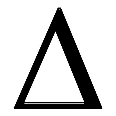 alphabet greek: 3d Greek letter Delta isolated in white