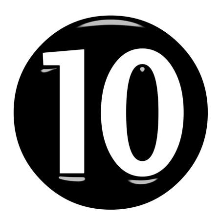 numero diez: 3D enmarcado n�mero 10
