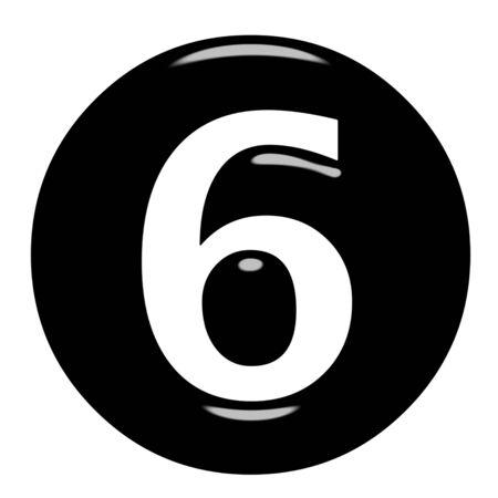 framed: 3d framed number 6