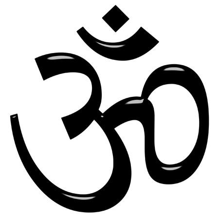 ohm symbol: 3d Hinduism symbol