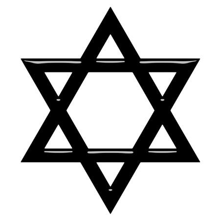 hexagram: 3d Star of David  Stock Photo