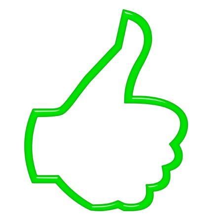 okay: 3d thumbs up