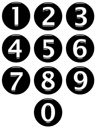 digit 3: 3d framed numbers