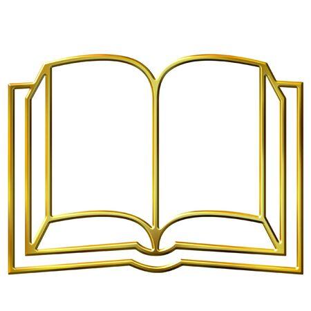 3d golden book Stock Photo - 7433060