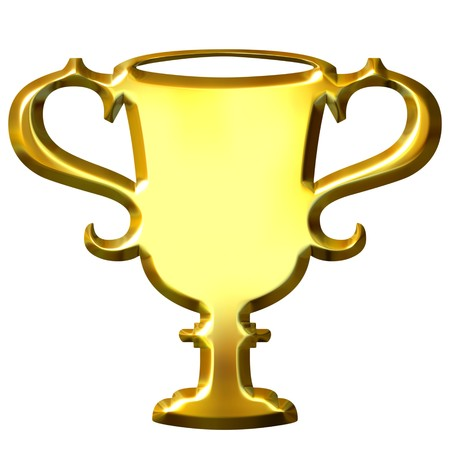 3d golden trophy  Stock Photo - 7433067