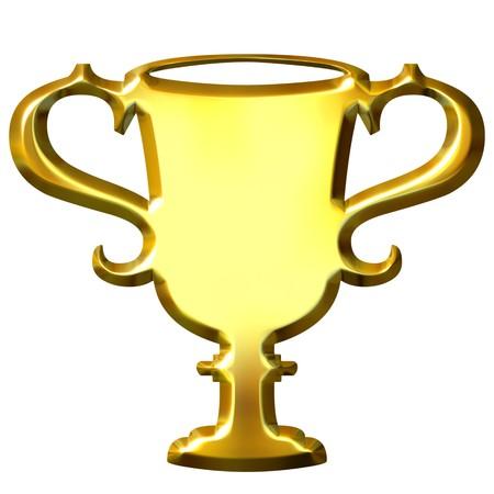reward: 3d golden trophy  Stock Photo