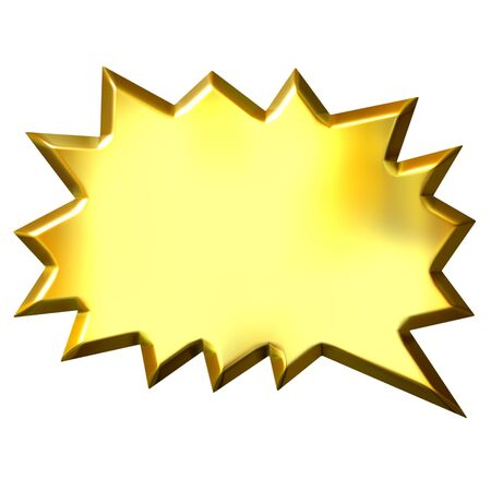 illustrates: 3d golden shout bubble  Stock Photo
