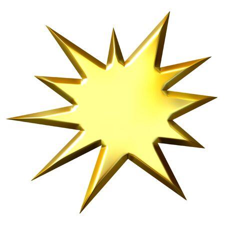 starburs: 3D estelar de oro  Foto de archivo