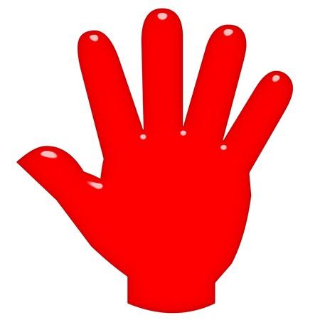 3D offene hand