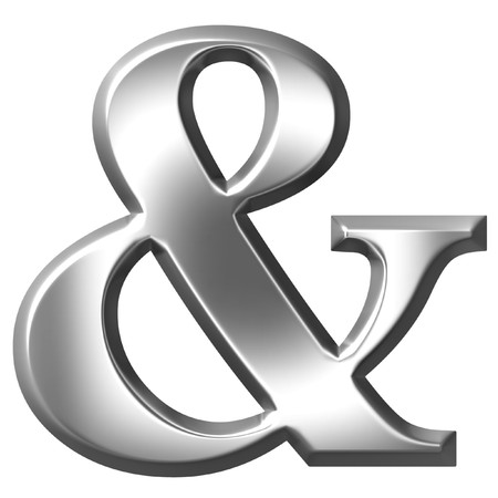 3d silver ampersand  photo