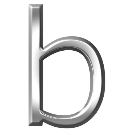 3d silver letter b isolated in white Stock Photo - 7433185