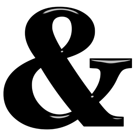 3d ampersand  photo