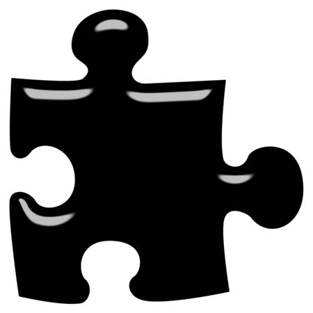 struggling: 3d puzzle piece  Stock Photo