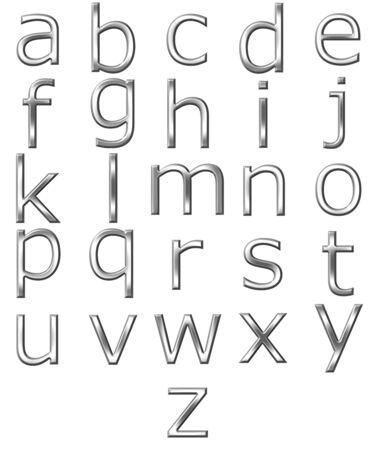 3D Silber alphabet