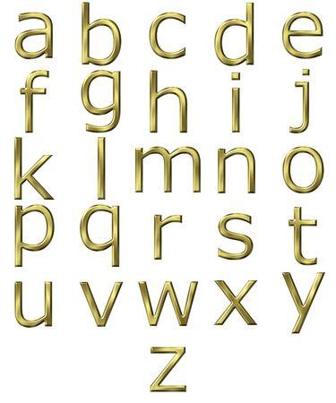 3d golden Alphabet Stock Photo - 7473935