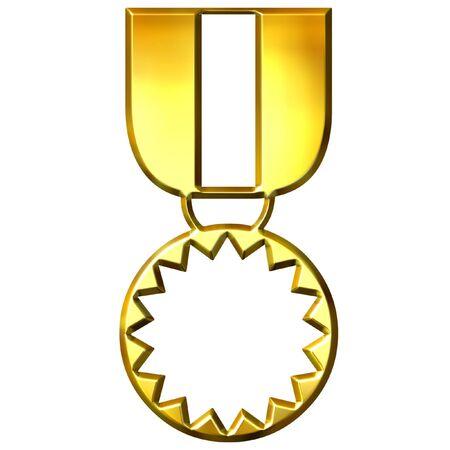 3d golden medal of honour Stock Photo - 7473925