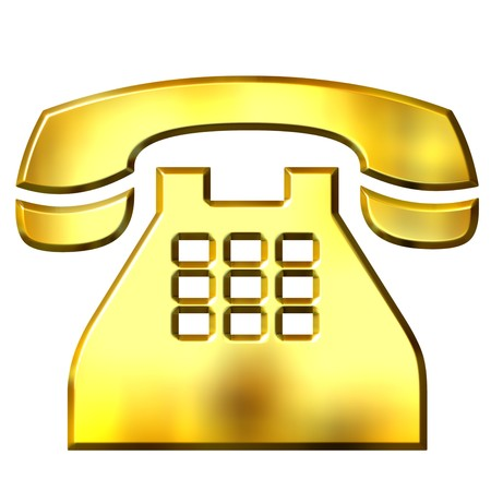 3d golden telephone  Stock Photo - 7473931